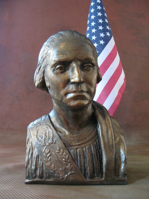 George Washington Bust Bronze Eleganza