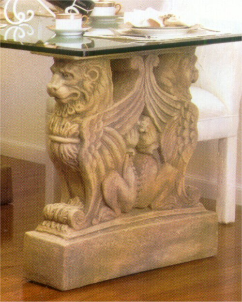 Twin Griffin Lion Table Base