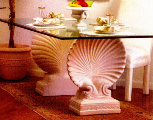 Scalloped Shell Dining Table Base Set : athp0402 from www.statue.com size 500 x 393 jpeg 56kB