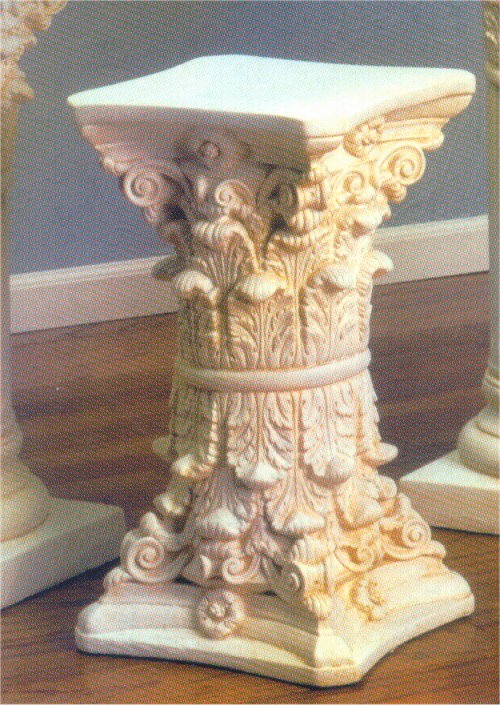 Double Corinthian Capitals Side Table Base