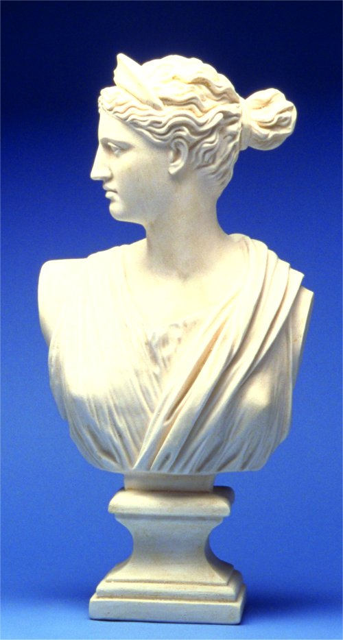 Diana Bust Sculpture Greek Roman Goddess Replica