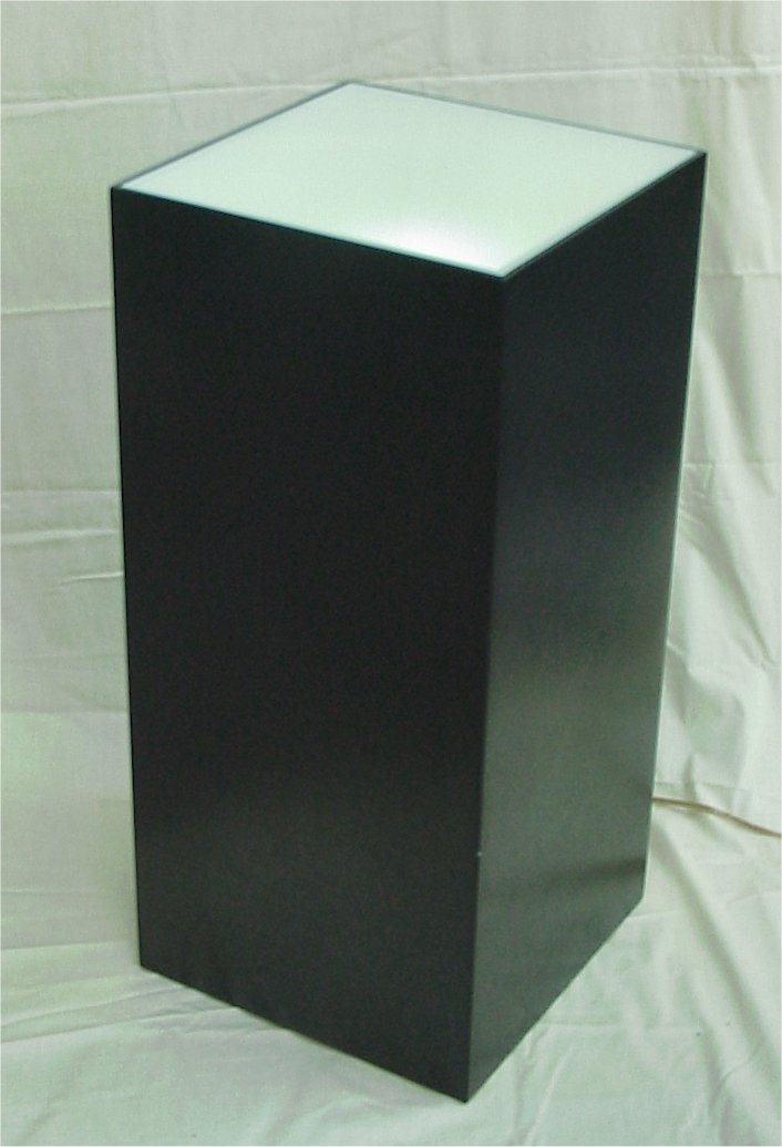 Lighted Cube Pedestal 30 Quot High For Art Display