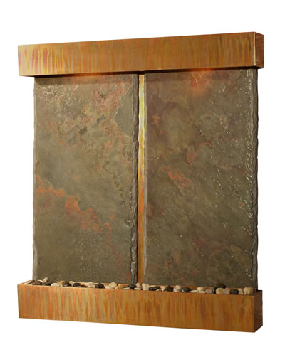 Nojoqui Double Falls Wall Fountain Indian Rajah Slate