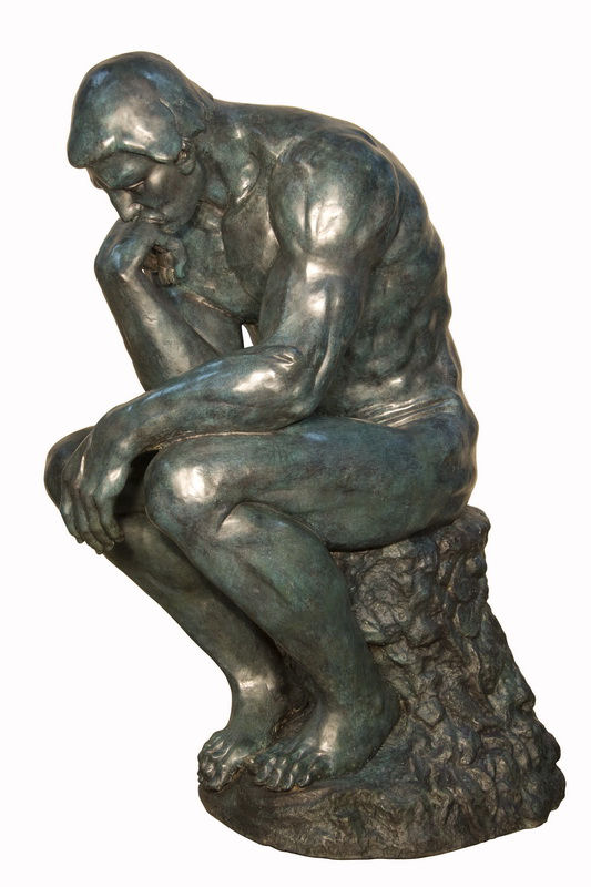 Thinker By Rodin Life-size Sculpture Bronze