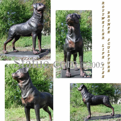 rottweiler life size bronze sculpture. Black Bedroom Furniture Sets. Home Design Ideas