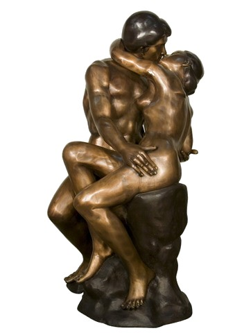 The Kiss By Rodin Replica Grand-Scale Bronze Sculpture