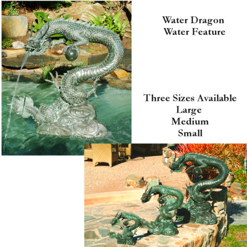 Asian Water Dragon Water Feature Garden Sculpture
