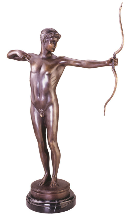 Greek Archer Teucer Trojan Hero Bronze Sculpture