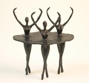 Ballet Trio Ballerinas Bronze Sculpture