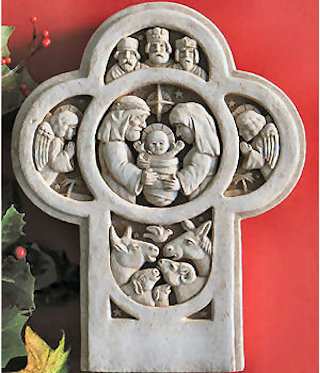 Nativity Cross Wall Hanging Sculpture
