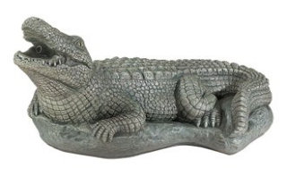 Alligator Piped Water Feature Statue 20.5