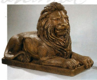 Guardian Lion Laying Right Statue