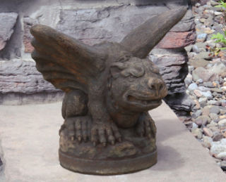 Gargoyle Bat Cast Stone Sculpture