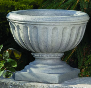 Fluted European Decorative Urn Small