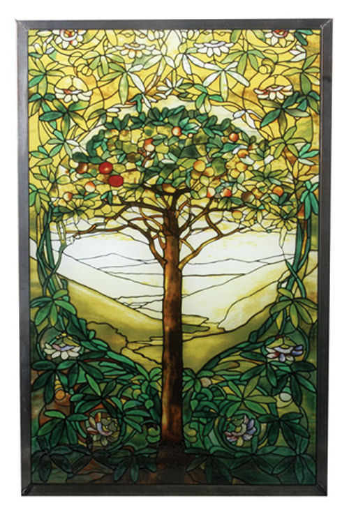 Tree Of Life Replica By Louis Comfort Tiffany Wall Hanging