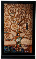 Klimt of theTree of Life Art Glass Sculpture