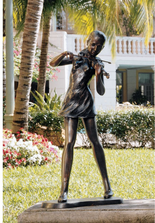 Young Girl Violinist Sculpture Large
