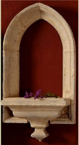 Cathedral Window Arch Sculptural Wall Shelf
