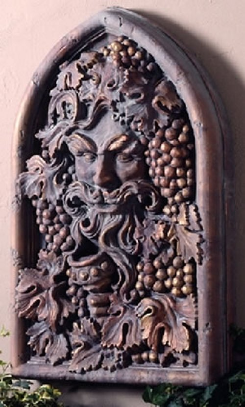 Bacchus Of Wine Sculptural Wall Decor Winegod Window Frieze