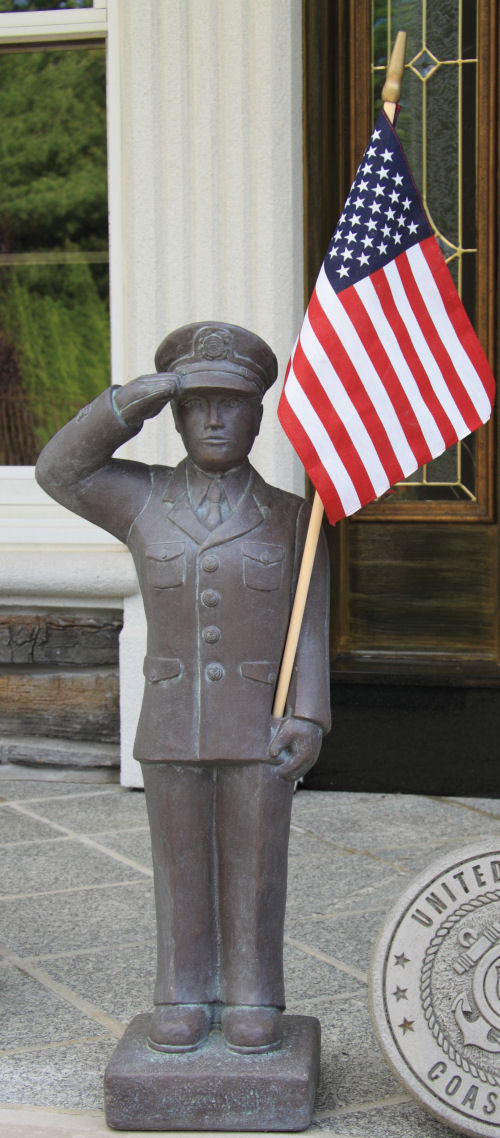 Armed Forces Coast Guard Military Garden Statue