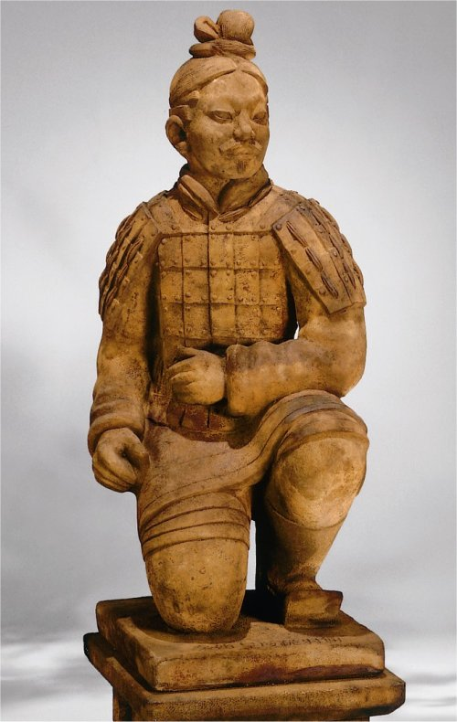 Kneeling Archer Sculpture Replica Terracotta Warriors Of China