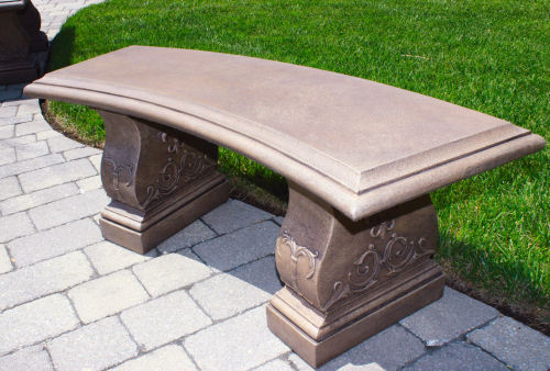 - Jubilee Curved Cement Garden Bench