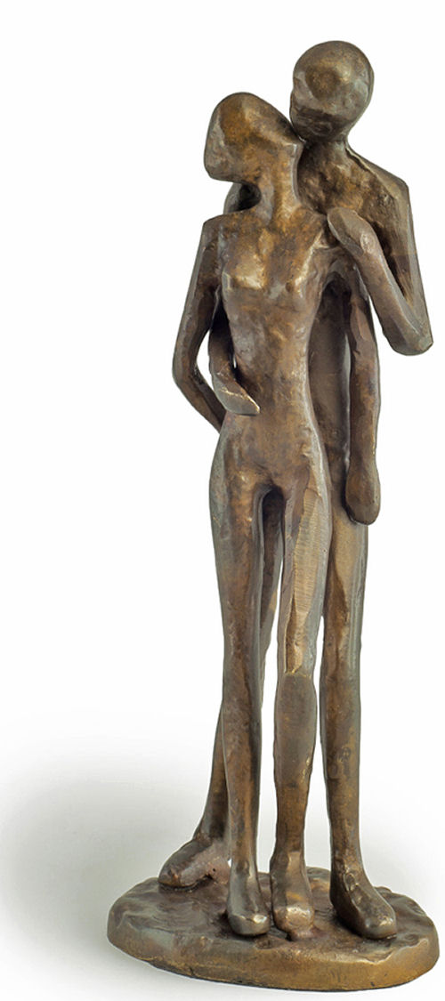 Couple Kissing Sculpture Bronze