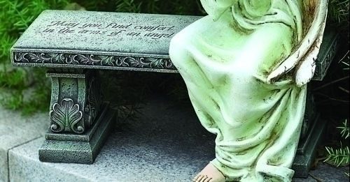 Memorial Bench May You Find Comfort In The Arms Of An Angel