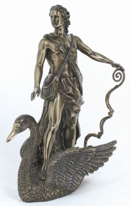 Apollo Sculpture On Swan Replica