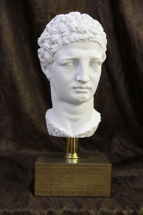 Head of Olympia Hermes on Base Bust Statue