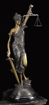 Blind Justice Bronze Lady Statue
