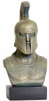 Bust of Greek Hoplite Warrior Sculpture