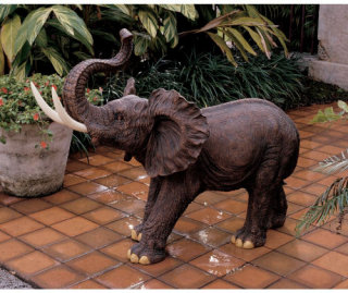 Triumphant Entry Elephant Large Sculpture
