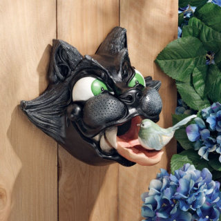 Cat Birdhouse House Sculpture by artist Frederic Levesque