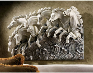 Neptune's Horses Of The Sea Wall Frieze