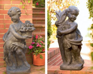 Autumn And Spring Cherub Statues Set 34
