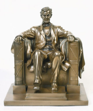 Abraham Lincoln Memorial Replica Sculpture