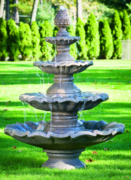 Multibasin fountains in many styles