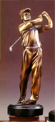 Captivating Golf Sculpture