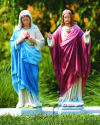 Jesus & Mary Sacred Heart Sculptures Set 25