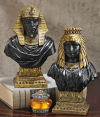 Egyptian King Rameses II and Queen Nefertari Bust Set