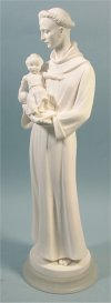 Saint Anthony and Child Statue Marble 20