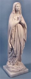 Our Lady Of Lourdes Statue Marble 16.5