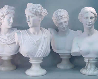 Apollo Diana Hermes & Venus Set Of 4 Busts 21