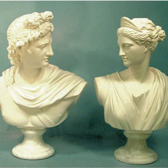 Apollo & Diana Bust Sculpture Set 13