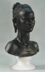 Nubia Princess Bust Marble Sculpture 14.5
