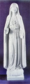Our Lady Of Fatima Marble Sculpture 37.5