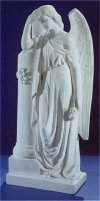 Angel With Roses Marble Statue 33.5
