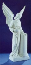 Angel With Roses Marble Memorial Sculpture