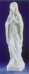Our Lady Of Lourdes Monumental Life-Size Bonded Marble Statue
